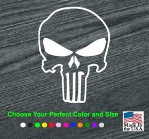 Chris Kyle Punisher Outlined Decal Sticker