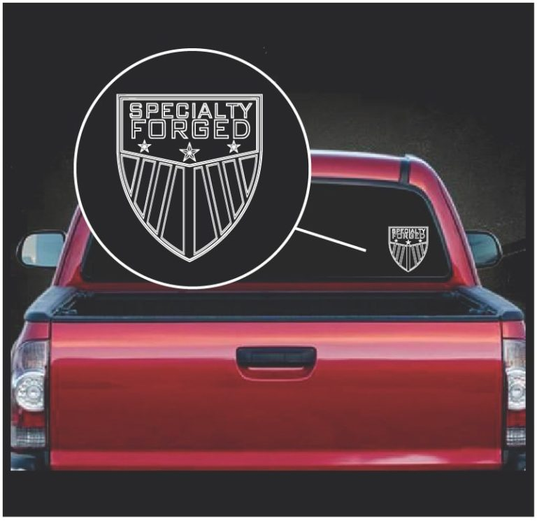 Specialty Forged Truck Decal Sticker Custom Sticker Shop
