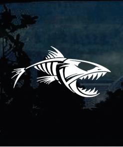 Fishing Decals - Bonefish Skeleton Decal
