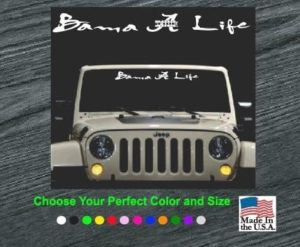 bama life windshield decal sticker