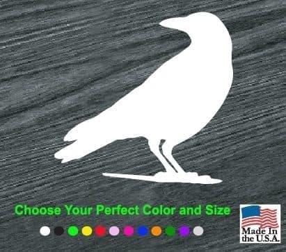 raven silouette decal sticker