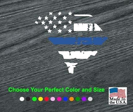south carolina back the blue thin blue line decal sticker