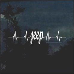 Jeep is Life Heartbeat Window Decal Sticker