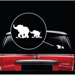 elephant mom and baby window decal sticker