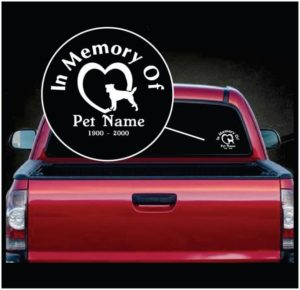 In Loving Memory Vinyl Decal Stickers Jack Russell Terrier Heart