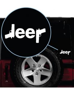 jeep guns window decal sticker