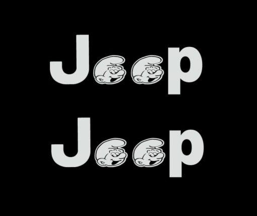 jeep smurf fender decals