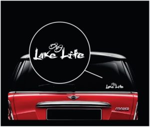 lake life flip flops a3 vinyl window decal