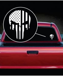 punisher skull flag viny window decal sticker a2