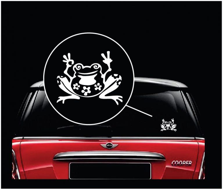 Frog window decal sticker a2