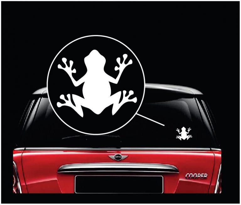 Frog window decal sticker a3