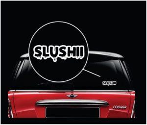 Slushii vinyl window decal sticker