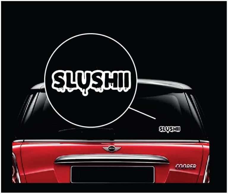 Slushii decal sticker custom sticker shop Getting stickers off glass
