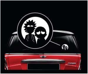 Rick and Morty Vinyl window Decal Sticker
