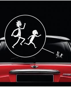 rick and morty vinyl window decal sticker a2