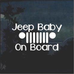 Jeep Baby on Board Window Decal Sticker