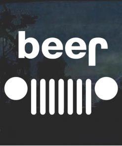 Jeep Beer Beej Window Decal Sticker
