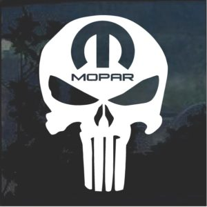 Mopar Punisher Vinyl Window Decal Sticker