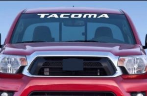 Toyota tacoma windshield banner decal sticker
