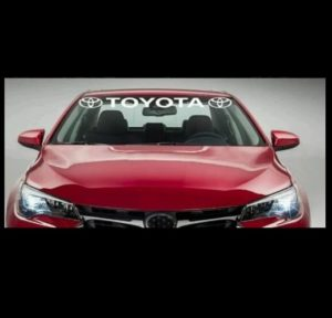 Windshield Banner Decal Sticker Fits Toyota