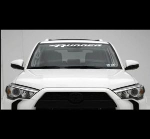 Windshield Banner Decal Sticker fits Toyota 4 Runner