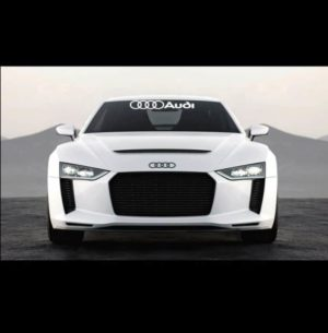 Windshield Banner Decal Sticker fits Audi 23 a3 a4 a5 a6 a8 s4 s5 s6 rs4 q3 q5 q7 tt r8