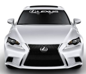 Windshield Banner Decal Sticker fits Lexus