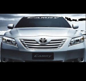 Windshield Banner Decal Sticker fits Toyota 4 Camry