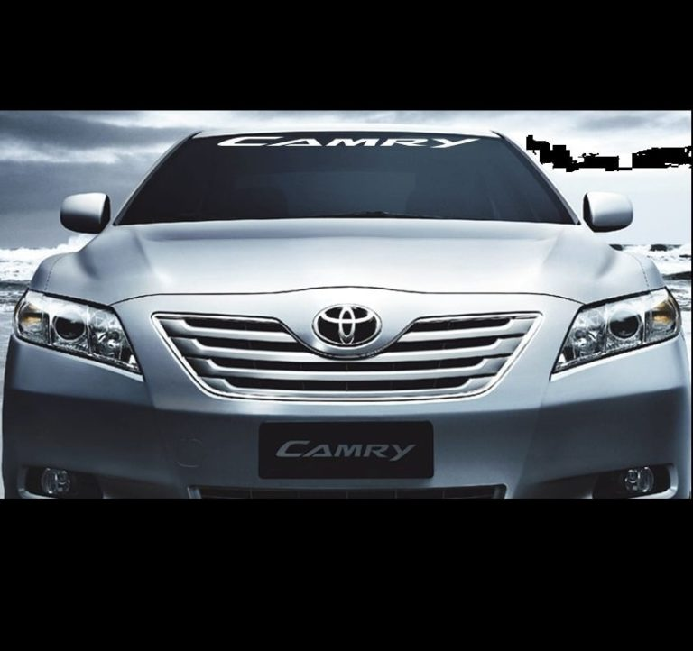 toyota camry windshield decal sticker custom sticker shop. Black Bedroom Furniture Sets. Home Design Ideas