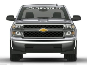 Windshield banner decal sticker fits Chevrolet Chevy Trucks