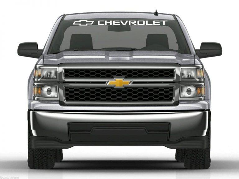 Windshield banner decal sticker fits Chevrolet Chevy Trucks