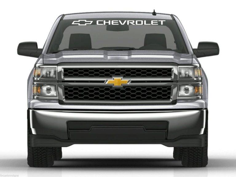 Windshield Banner Chevy Chevrolet Truck Sticker