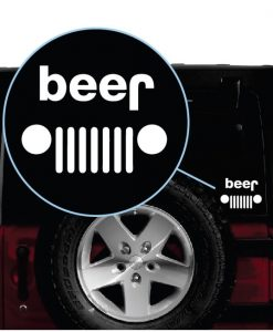 Jeep Beer BeeJ Window Decal Sticker