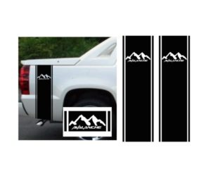 Chevy Chevrolet Avalanche bedside stripe kit set of 2 vinyl decal stickers