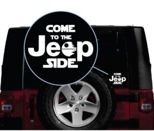 come to the jeep side decal sticker