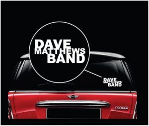 DMB Dave Mathews Band Window Decal Sticker