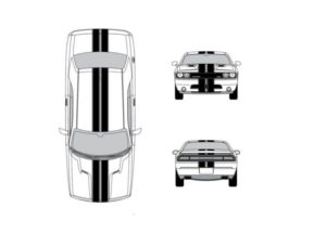 dodge challenger 10 inch racing stripes