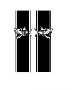 Fish Reaper vinyl bedside kit decal stickers a2