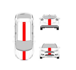 ford focus 10 inch racing stripe kit