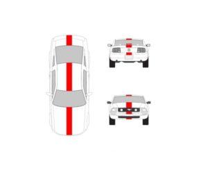 ford mustang 10 inch racing stripe kit