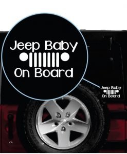 Jeep baby on Board window decal sticker