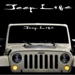 jeep life windshield banner decal sticker