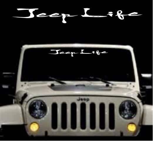 Jeep Life Windshield Banner Decal Sticker Custom Sticker