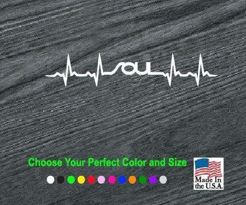 Kia Soul Heartbeat Window Decal Sticker Custom Sticker Shop