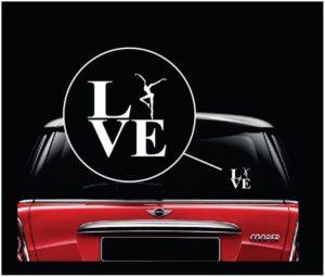 Love DMB Dave Mathews Band Window Decal Sticker