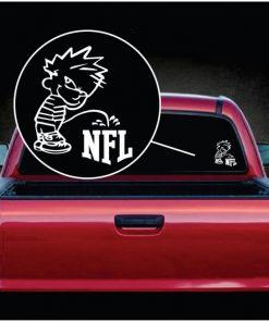 Calvin Piss on Pee on the NFL National Football League
