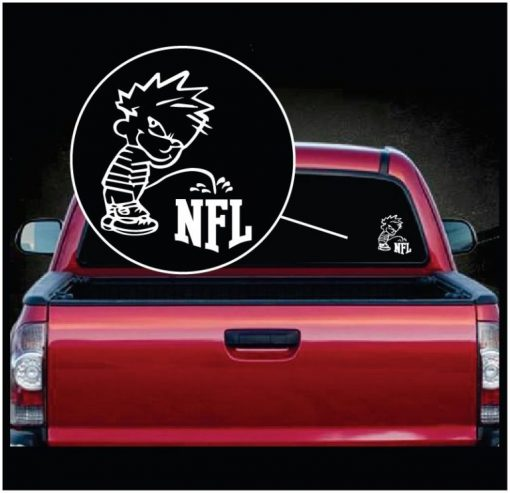 Calvin Piss on Pee on the NFL National Football League