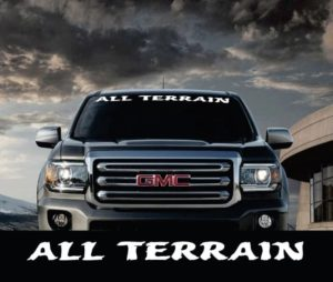 Vinyl Windshield Banner Decal Stickers Fits GMC Sierra All Terrain