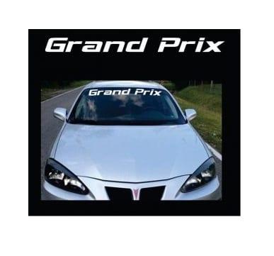 Pontiac Grand Prix Windshield banner decal sticker