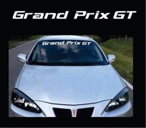 Vinyl Windshield Banner Decal Stickers Fits Pontiac Grand Prix GT